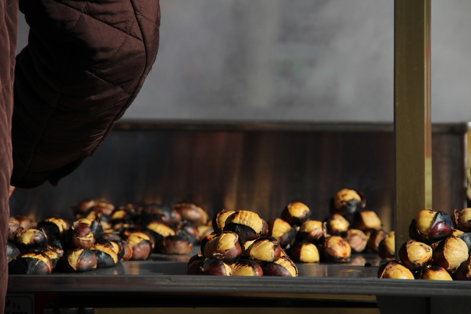 Chestnuts on the Istanbul streets.