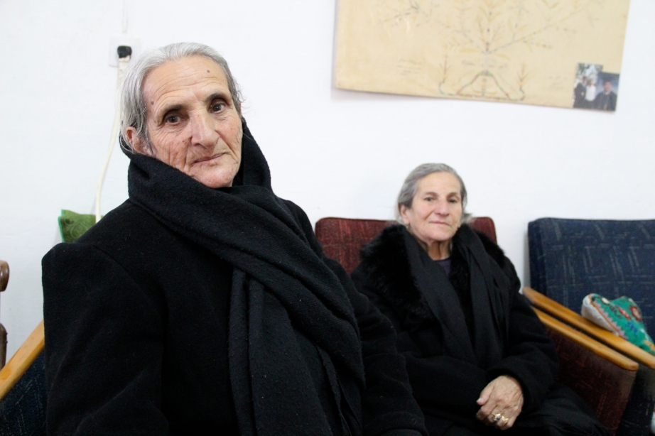 Nejme and her sister - two women who have lived in Taybeh, Palestine for 80 years.