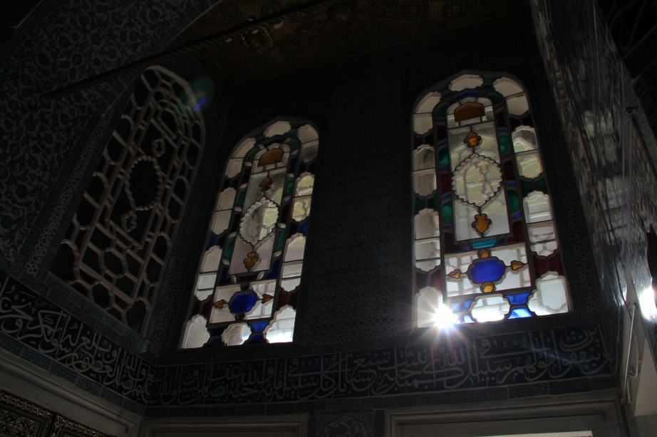 Stained glass in Topkapi Palace.