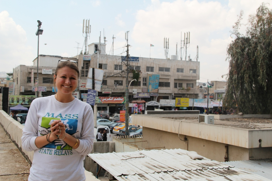 Julie in her favorite place - the OWA in Baqa'a.